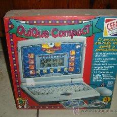 Juegos educativos: ORDENADOR INFANTIL DE CEFA TOYS. QUIQUE COMPACT. A ESTRENAR. ENVIO GRATIS. Lote 30591790