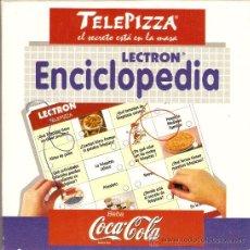 Juegos educativos: JUEGO LECTRON ENCICLOPEDIA - TELEPIZZA COCA-COLA - JUGUETES DISET - FUNCIONANDO !!!. Lote 31338926