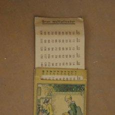 Juegos educativos: PEQUEÑO MULTIPLICADOR DE LOS AÑOS 40S. PRECIOSO. . Lote 31845445