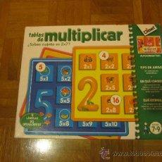 Juegos educativos: JUEGO DE TABLAS DE MULTIPLICAR , DE DISET. Lote 34318390