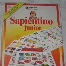 Juegos educativos: SAPIENTINO JUNIOR, PUBLIJUEGO, CLEMENTONI EDUCATIONAL. Lote 34684911