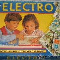 Juegos educativos: ELECTRO, CON MAS DE 1600 PREGUNTAS Y RESPUESTAS, DE DISET. Lote 34685330