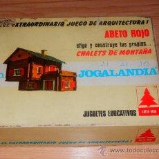 Juegos educativos: EL EXTRAORDINARIO JUEGO DE ARQUITECTURA ABETO ROJO CHALETS DE MONTAÑA JOGALANDIA W. Lote 35487264