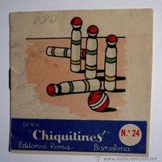 Juegos educativos: PEQUEÑO LIBRITO PARA COLOREAR - SERIE CHIQUITINES - Nº 24 EDITORIAL ROMA - BARCELONA. Lote 36030095