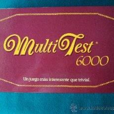 Juegos educativos: JUEGOS MULTI TEST 6.000 - UN JUEGO MAS INTERESANTE QUE TRIVIAL - 34X1X7 CM - FACTOR GAMES - AÑO 1987. Lote 36948600