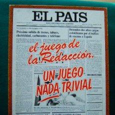 Juegos educativos: EL PAIS EL JUEGO DE LA REDACCION UN JUEGO NADA TRIVIAL - EDUCA - 39X29X7 CM - COMPLETO - AÑO 1985.. Lote 36949466