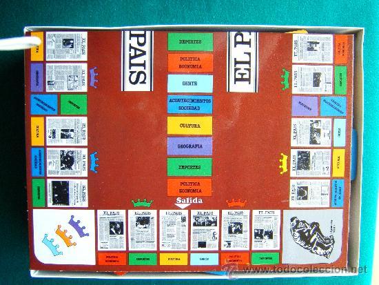 Juegos educativos: EL PAIS EL JUEGO DE LA REDACCION UN JUEGO NADA TRIVIAL - EDUCA - 39X29X7 CM - COMPLETO - AÑO 1985. - Foto 2 - 36949466