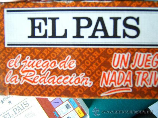 Juegos educativos: EL PAIS EL JUEGO DE LA REDACCION UN JUEGO NADA TRIVIAL - EDUCA - 39X29X7 CM - COMPLETO - AÑO 1985. - Foto 7 - 36949466