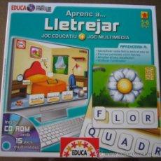 Juegos educativos: JUEGO DE APRENDER A DELETREAR INCLUYE CD-ROM CON 15 JUEGOS MULTIMEDIA - EDUCA 5-6 AÑOS - EN CATALAN. Lote 37804606