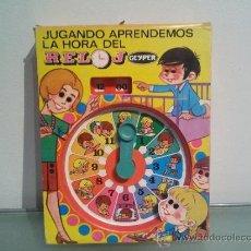 Juegos educativos: RELOJ GEYPER APRENDEMOS LA HORA CON CAJA. Lote 38023883