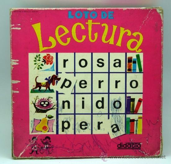 LOTO LECTURA DIDACTA JUEGO EDUCATIVO PARA APRENDER A LEER AÑOS 70 (Juguetes - Juegos - Educativos)