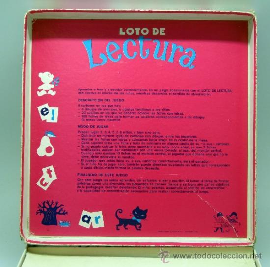 Juegos educativos: Loto lectura Didacta juego educativo para aprender a leer años 70 - Foto 2 - 38233050