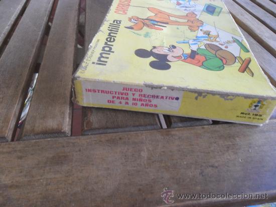Juegos educativos: ANTIGUO JUEGO IMPRENTILLA CARRUSEL WALT DISNEY DE MARC PIQUE REG JUEGO DE PLANTILLAS - Foto 4 - 38950929