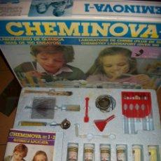 Jeux éducatifs: JUEGO CHEMINOVA I - LABORATORIO DE QUIMICA - MAS DE 100 ENSAYOS - MEDITERRANEO. Lote 47958782