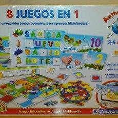 Juegos educativos: 8 JUEGOS EN 1 Y JUEGO DE WEBCAM - CLEMENTONI - CASTELLANO/ENGLISH - PRECINTADO - NUEVO. Lote 41134258