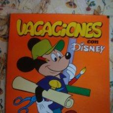Juegos educativos: VACACIONES CON DISNEY ENSEÑA - ACTIVIDADES PASATIEMPOS - SUSAETA 1973- SIN USAR IMPECABLE-DE KIOSKO. Lote 41143568