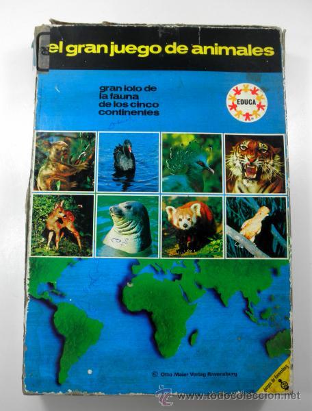 Juegos educativos: ANTIGUO JUEGO DE MESA EL GRAN JUEGO DE ANIMALES * EDUCA * JUEGOS DE RAVENSBURG - Foto 3 - 41693645