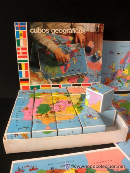 CUBOS GEOGRAFICOS DE BORRAS * ROMPECABEZAS GEOGRAFICO (Juguetes - Juegos - Educativos)