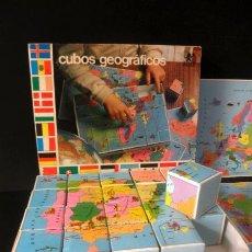 Juegos educativos: CUBOS GEOGRAFICOS DE BORRAS * ROMPECABEZAS GEOGRAFICO. Lote 41780170