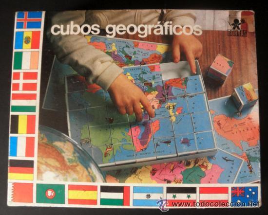 Juegos educativos: CUBOS GEOGRAFICOS DE BORRAS * ROMPECABEZAS GEOGRAFICO - Foto 2 - 41780170