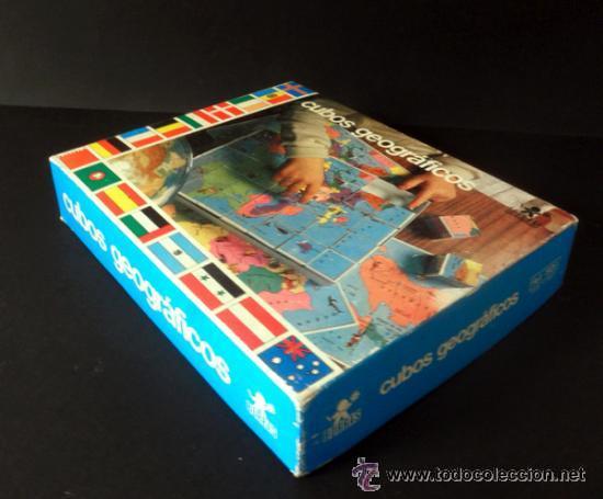 Juegos educativos: CUBOS GEOGRAFICOS DE BORRAS * ROMPECABEZAS GEOGRAFICO - Foto 4 - 41780170