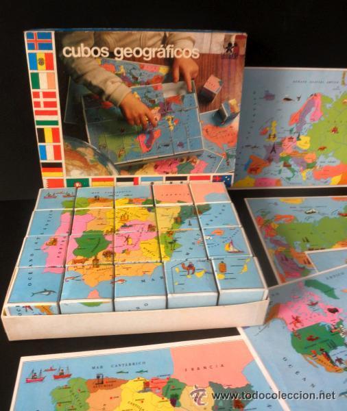 Juegos educativos: CUBOS GEOGRAFICOS DE BORRAS * ROMPECABEZAS GEOGRAFICO - Foto 5 - 41780170