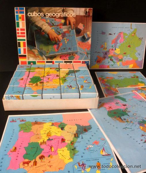 Juegos educativos: CUBOS GEOGRAFICOS DE BORRAS * ROMPECABEZAS GEOGRAFICO - Foto 6 - 41780170
