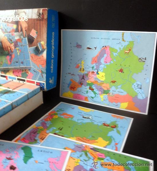 Juegos educativos: CUBOS GEOGRAFICOS DE BORRAS * ROMPECABEZAS GEOGRAFICO - Foto 7 - 41780170