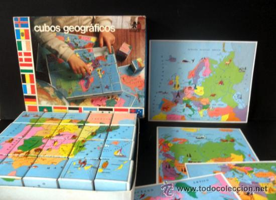 Juegos educativos: CUBOS GEOGRAFICOS DE BORRAS * ROMPECABEZAS GEOGRAFICO - Foto 8 - 41780170