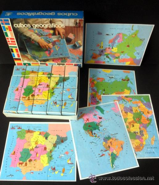 Juegos educativos: CUBOS GEOGRAFICOS DE BORRAS * ROMPECABEZAS GEOGRAFICO - Foto 9 - 41780170