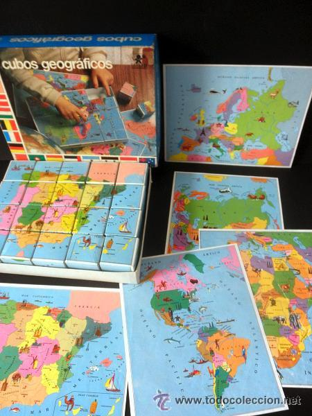 Juegos educativos: CUBOS GEOGRAFICOS DE BORRAS * ROMPECABEZAS GEOGRAFICO - Foto 10 - 41780170