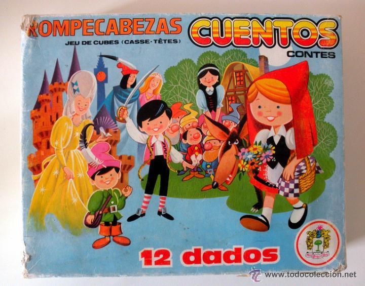 ROMPECABEZAS CUENTOS 12 DADOS * JUGUETES PIQUE * COMPLETO (Juguetes - Juegos - Educativos)