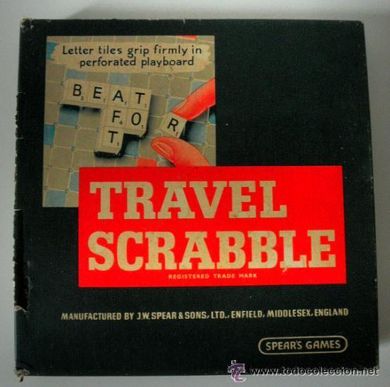 Juegos educativos: JUEGO DE MESA * TRAVEL SCRABBLE * SPEARS GAMES AÑOS 60 - 70 * RARA EDICION INGLESA - Foto 2 - 41787313