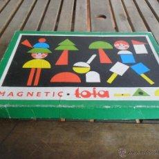 Juegos educativos: JUEGO MAGNETIC DE TOIA JUEGO DE PIEZAS DE MADERA CON IMAN PARA MONTAR FIGURAS BASE EN CHAPA. Lote 103678135