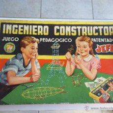 Juegos educativos: JUEGO PEDAGOGICO INGENIERO CONSTRUCTOR. JEFE. SALUDES. VALENCIA. Lote 41800310