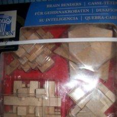 Juegos educativos: 4 BRAIN BENDERS – PAVILION – DESAFIOS PARA SU INTELIGENCIA – PUZZLES 3D DE MADERA. Lote 42172746