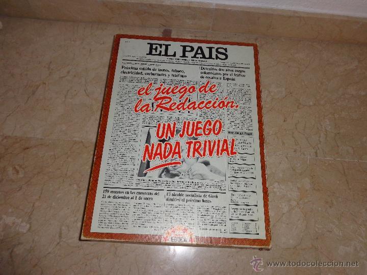 EL PAIS - EL JUEGO DE LA READACCIÓN, UN JUEGO NADA TRIVIAL AÑO 1985 COMPLETO, 111-1 (Juguetes - Juegos - Educativos)