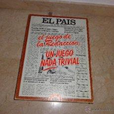 Juegos educativos: EL PAIS - EL JUEGO DE LA READACCIÓN, UN JUEGO NADA TRIVIAL AÑO 1985 COMPLETO, 111-1. Lote 42378079