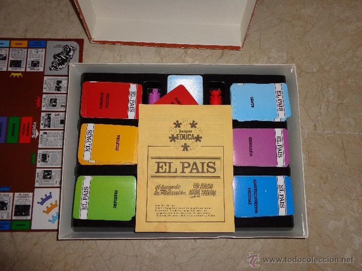 Juegos educativos: EL PAIS - EL JUEGO DE LA READACCIÓN, UN JUEGO NADA TRIVIAL AÑO 1985 COMPLETO, 111-1 - Foto 3 - 42378079