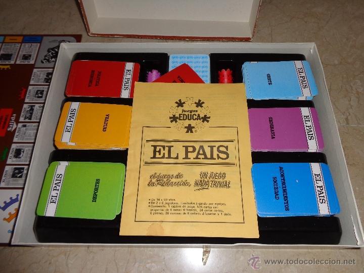 Juegos educativos: EL PAIS - EL JUEGO DE LA READACCIÓN, UN JUEGO NADA TRIVIAL AÑO 1985 COMPLETO, 111-1 - Foto 6 - 42378079