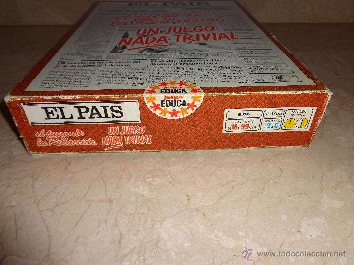Juegos educativos: EL PAIS - EL JUEGO DE LA READACCIÓN, UN JUEGO NADA TRIVIAL AÑO 1985 COMPLETO, 111-1 - Foto 12 - 42378079