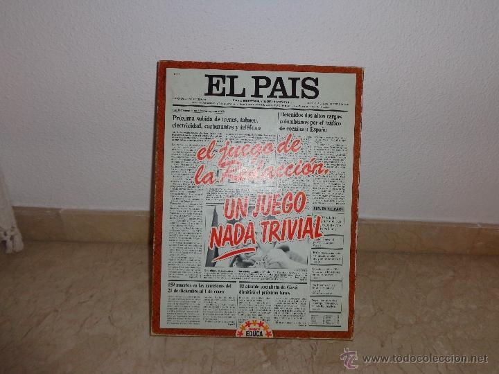 Juegos educativos: EL PAIS - EL JUEGO DE LA READACCIÓN, UN JUEGO NADA TRIVIAL AÑO 1985 COMPLETO, 111-1 - Foto 20 - 42378079