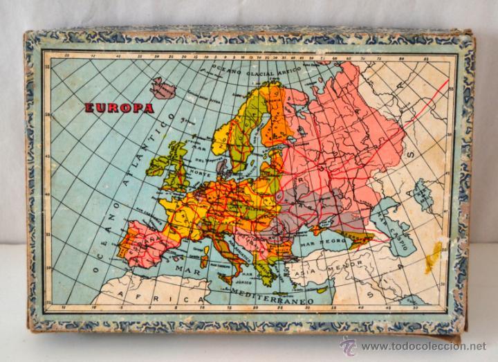 ANTIGUO ROMPECABEZAS CUBOS GEOGRAFICOS * MAPA EUROPA * ESPAÑA * AFRICA * AMERICA * OCEANIA * ASIA * (Juguetes - Juegos - Educativos)