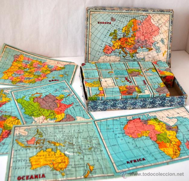 Juegos educativos: ANTIGUO ROMPECABEZAS CUBOS GEOGRAFICOS * MAPA EUROPA * ESPAÑA * AFRICA * AMERICA * OCEANIA * ASIA * - Foto 2 - 42517069