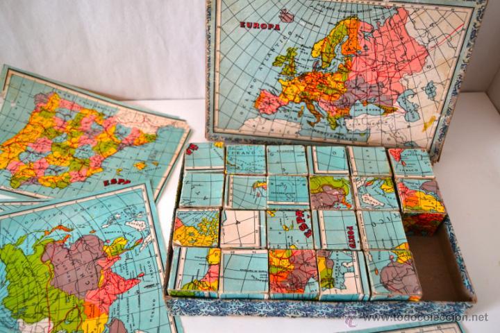 Juegos educativos: ANTIGUO ROMPECABEZAS CUBOS GEOGRAFICOS * MAPA EUROPA * ESPAÑA * AFRICA * AMERICA * OCEANIA * ASIA * - Foto 3 - 42517069