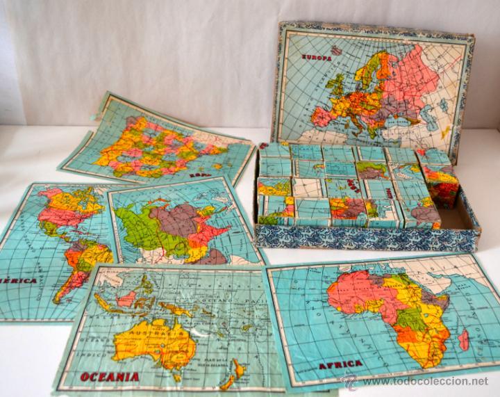 Juegos educativos: ANTIGUO ROMPECABEZAS CUBOS GEOGRAFICOS * MAPA EUROPA * ESPAÑA * AFRICA * AMERICA * OCEANIA * ASIA * - Foto 5 - 42517069
