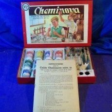 Juegos educativos: JUEGO DE MESA EDUCATIVO CHEMINOVA CAJA ENSAYOS QUIMICA ESPAÑA AÑOS 1950. Lote 43555202