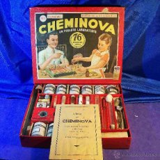 Juegos educativos: JUEGO CHEMINOVA MATERIAL DE ENSEÑANZA CAJA GRANDE ESPAÑA AÑOS 1940 APROX QUIMICA. Lote 43758009