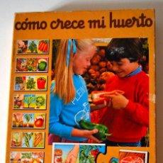 Juegos educativos: COMO CRECE MI HUERTO * JUEGOS EDUCA * REF 3866 * COMPLETO. Lote 44176234