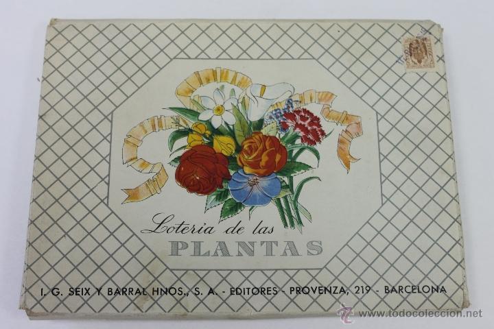 JUEGO DE LOTERIA DE LAS PLANTAS, SEIX BARRAL HNOS. BARCELONA 1945 (Juguetes - Juegos - Educativos)